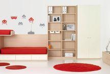 Juveniles / La propuesta en diseño de habitaciones y mobiliario para los más jóvenes de la casa.