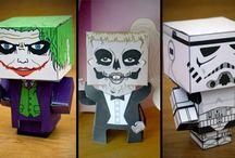 """Paper Craft"" / Paper, cube craft"