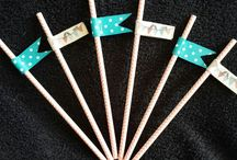 Paper flag straws.  / Paper flag strows... Orders @ creative.organizingandcleaning@gmail.com or phone Rozanne 071 679 3376
