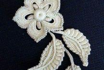 flores de crochê  para aplicar