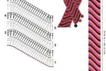 crochet scarfs & mittens / crochet