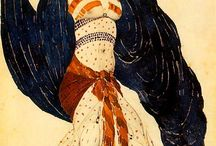 Design Heroes- Leon Bakst and Ivan Bilibin / Costume designs and illustrations of Leon Bakst and Ivan Bilibin. My design heroes