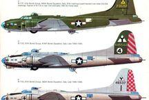 Plastic model aircraft of WW2