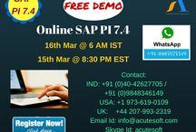 Attend FREE DEMO SAP PI 7.4 from @ 16th Mar 6 AM IST & 15th Mar 8:30 PM EST.
