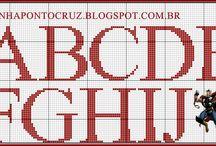 Monogramas Ponto Cruz