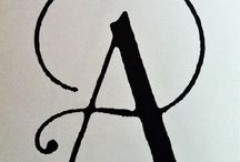 Letters, fonts, calligraphyart