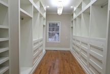 Bedrooms and walk in closets