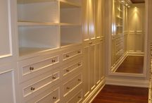 molding and built in cabinets