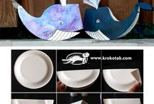 Whale / Whale from paperplate