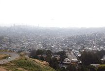 """TWIN PEAKS à San Francisco / Belle vue depuis les """"collines jumelles"""" ou """"Twin Peaks"""" à San Francisco. Vous pourrez admirer toute la baie de San Francisco à condition qu'il n'y ait pas de brouillard ;)"""