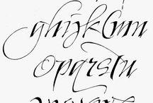 calligrafia scritture things