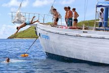 Seaspray Day Sailing Adventure / Seaspray is the magnificant classic schooner of television fame. On Seaspray you can sail in comfort and explore the crystal clear waters, beautiful beaches and lagoons of the Mamanuca Islands in Fiji. Book your day cruise with South Sea Cruises or Awesome Adventures Fiji.