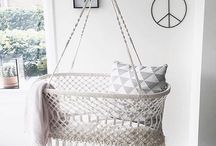 Boho Nursery Inspo / Baby Nursery Inspiration with Boho trends and neutral styling pieces.