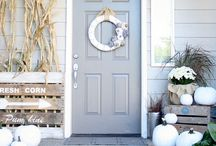 Seasonal decor...means I'm growing up ;) / Seasonal decorations for the home. Inside and out