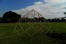 zome / una variante de domo muy interesante y de bambu