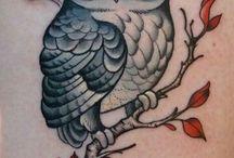 tatuaj cu bufniță