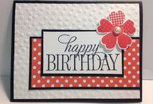 Birthday cards flat