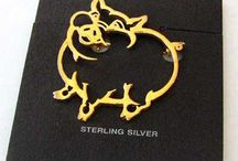 Jewelry > FIne Pins / Sterling silver and vermeil pins.