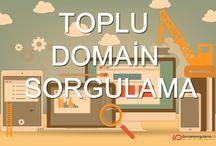 Domain Sorgulama Sayfaları / Alan adı sorgulama ve tescil işlemleriniz için faydalanabileceğiniz web sayfalarımız