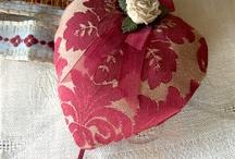 textilní srdíčka