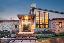 Rayner Place by LaRue Architects / Capturing the hill country view, this contemporary house surrounds a cluster of trees in a generous courtyard. Water elements, photovoltaics, lighting controls, and 'smart home' features are essential components of this high-tech, yet warm and inviting home.