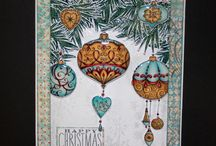 Baubles / This is the gorgeous new Baubles set designed by Sharon Bennett for Hobby Art. Clear set contains 12 stamps. Overall size of set - 100mm x 260mm approx. All our clear stamps are made with photopolymer resin. As seen on Create & Craft / by Hobby Art Stamps