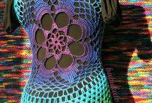 Crochet Summer Vests - Tie Dye Effect Flower Mandala - CROCHET