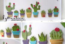 Kaarten met planten/ bloemen