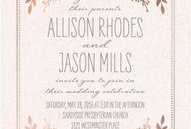 Megan's Invitations / by Sarah Adams