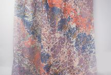 Scarf / Hand Marbled - Marble Scarf - Accesories - Fashion