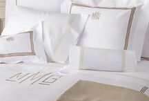 embroidered/monogram bed linen