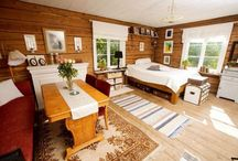 Decorating a log cabin in a non-cabin way