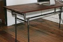 stoly z vodovod trubek
