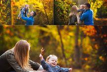 Family outdoors portrait