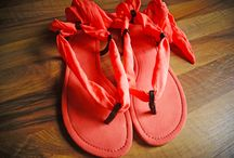 Sandalias Colores planos  / Lindas sandalias hechas en tela de colores y estampados hermosos y 100% cuero