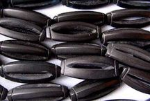 Stone Beads > Onyx Beads / Natural Onyx beads in a variety of shapes and sizes.