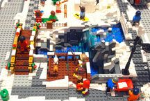 Lego North Pole / winter village inspiration