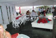 Cocktail Style Marquee Weddings / Cocktail style weddings are increasingly popular, allowing guests to mingle and enjoy the wedding surrounds.  Here are some functions that we have helped create.