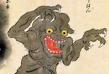 Japan Monsters Print
