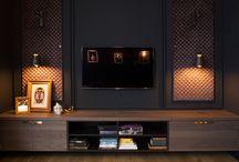 Ściana za telewizorem