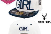 Kinky Pera Girl Şapka Modelleri / Kinky Pera Full Cap ve Snapback Şapka Modelleri