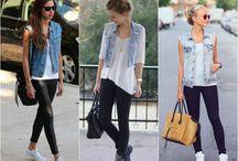 jeans com colete