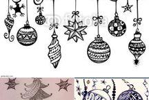 Zentangle (kerst)