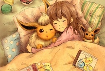 Eevee-lutions / I am totally in love with Eevee and all of it's evolutions, these Pokémon are so adorable! Especially Espeon!