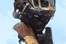 Steampunk mech