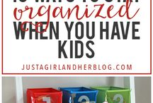 Getting organised at home / Tips for organising the space where you keep notes, school reminders, activities and what the family is up to
