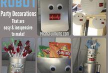 Robot party theme