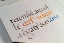 Calligraphie - autres écritures