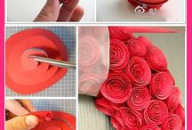 Paper's ideas / Flowers, decorations in paper.