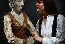 Melanie Bourlon ,sculpteur en papier mâché / Portraits http://www.melaniebourlon.com